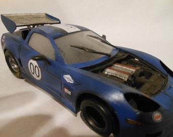 Classicwrecks, Scale Model, Corvette, Wrecked Race Car,Junker Model