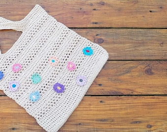 Flo's Summer Time Crochet Tote Bag Pattern Suitable for Beginners