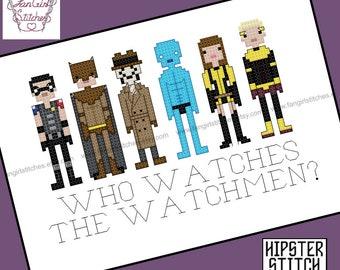 Watchmen themed cross stitch pattern - PDF pattern - INSTANT DOWNLOAD