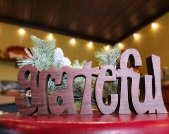 "Inspirational word ""Grateful"""