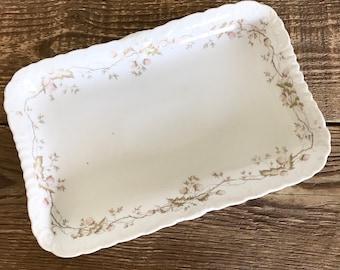 Vintage Austrian China Venice Floral Platter