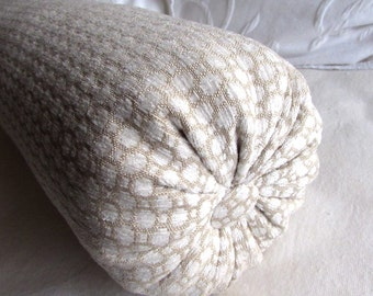 Cashmere Ivory chenille decorative Bolster Pillow 6x14  6x16  6x18  6x20  6x22