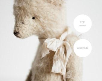 PDF Sewing Pattern & Tutorial Teddy Bear 7 Inches Stuffed Animal Mohair Artist Teddy Bear Pattern Soft Toys PDF Sewing Pattern For Women