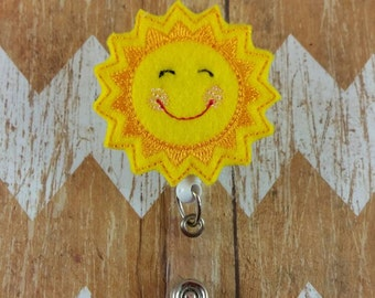 Sunshine badge reel, Happy sunshine badge reel, teacher badge reel, Nurse Badge reel,badge reel, ID badge reel