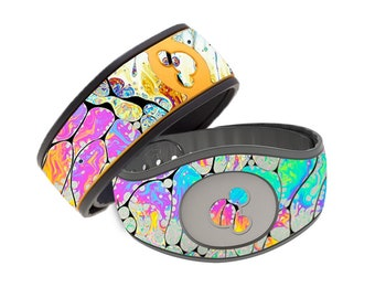 Colorful Bubbles Rainbow Magic Band 1.0 or 2.0 Skin | Rainbow Waterproof MagicBand Wrap | Colorful MagicBand 2 Decal