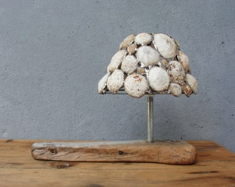 Sea Light - Tea Light Candleholder - Soldered Limpet Shells, Metal, Driftwood