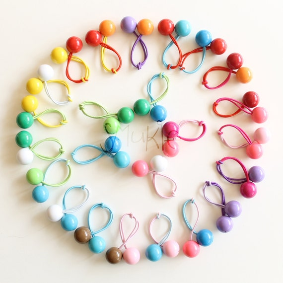 Hair ties. Elastic hair ties. Retro bobbles. Funky. Bubble Gum Balls