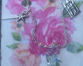 Cinderella inspired charm bracelet