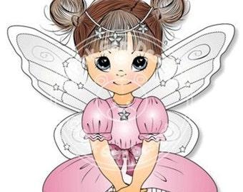 Digital Digi Stamp 'Fairy Grace'. Cute Girl. Girl Birthdays. Card Making. Paper Craft. Digital Scrapbooking. Invitations