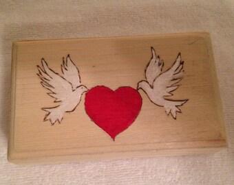 Doves and Heart Box