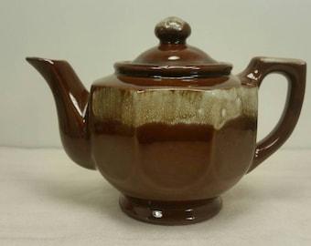 Drip Glazed Tea Kettle Teapot Tea Pot Vintage