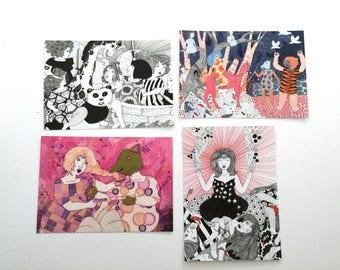 Battle Postcards - set of 4