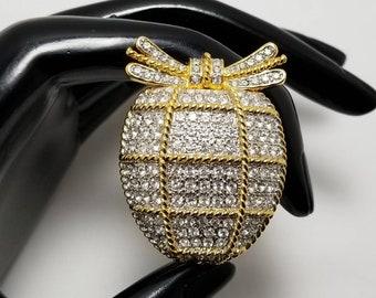 BEREBI Jeweled Fruit Brooch