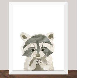 Sneaky Fella - Raccoon Print