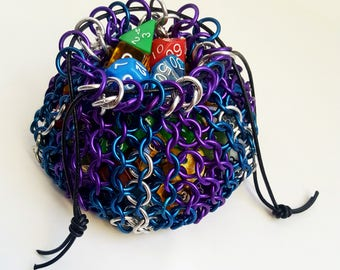 """Chainmaille Dice Bag - """"Magic Missile"""""""