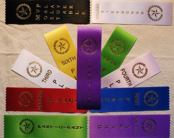 LOT OF 50 1st, 2nd, 3rd, 4th, 5th, 6th, place Ribbons Your choice