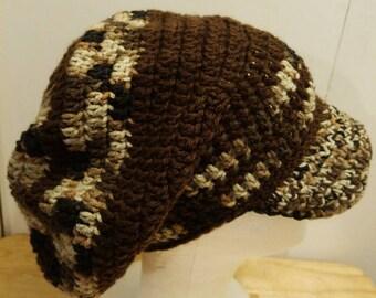 Crochet Rasta tam with brim