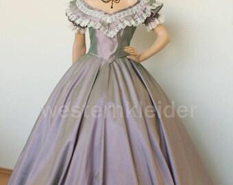 Dress Biedermeier dress southern dress civil was Crinolines dress