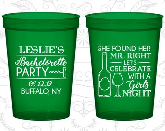 She found her Mr Right, Bachelorette Plastic Cup, Lets Celebrate with a girls night, Bachelorette Party Cups (60180)