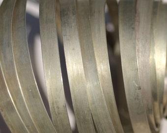 Nickel Silver Bezel Wire - Handmade - 8mm wide - 28 Gauge - 3 feet length