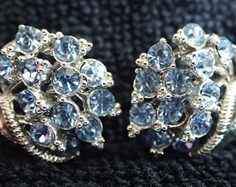 Vintage Star Rhinestone Earrings