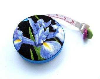 Tape Measure Iris Flowers Retractable Pocket Measuring Tape