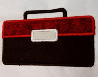 5x7 Toolbox Applique Machine Embroidery Design Single