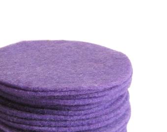 "30, 3"" Lavender Felt Circles"
