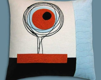Mod Scribbles Decorative Throw Pillow 17 x 17 inches