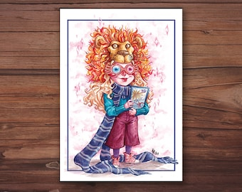 A6 postcard - Luna Lovegood card. Harry Potter