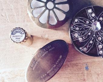 Vintage Makeup, Vintage Lipstick Holder, Vintage Compact, Purse Mirror, Vintage Pill Box, Trinket Box, Women's Accessories, Avon Maybelline