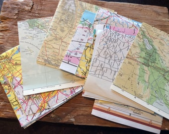 Scrap packs of vintage map pieces