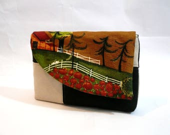 Card pouch, patchwork card holder