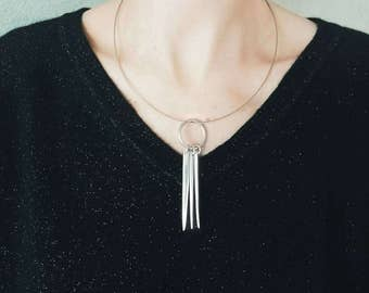 Tines of a fork necklace