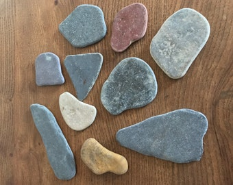 Beach Slate Stones, Beach Pebbles, Smooth Flat Stones, Wedding Decorations, Craft Project, One off Pebbles, Beach Finds