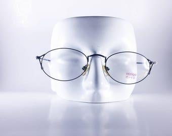 Hoseki Vintage Eyeglasses 100 52 KMVI Made in Italy for Japan Unisex Metal NOS Deadstock - HosF456Y-1