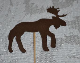 Moose Cupcake Toppers/Moose Cupcake Picks/Moose