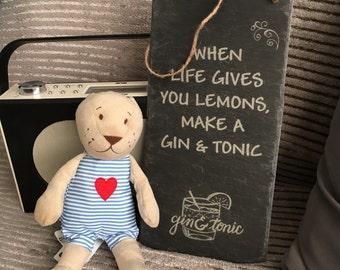Slate Gin and Tonic Sign