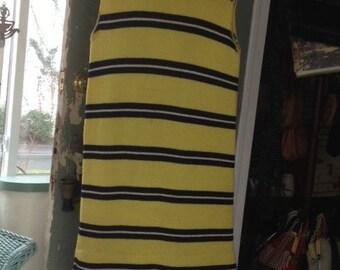 70's wool knit turtleneck shift dress