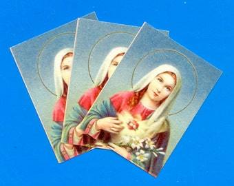 Mid-Century Virgin Mary Cards - Printed in Italy