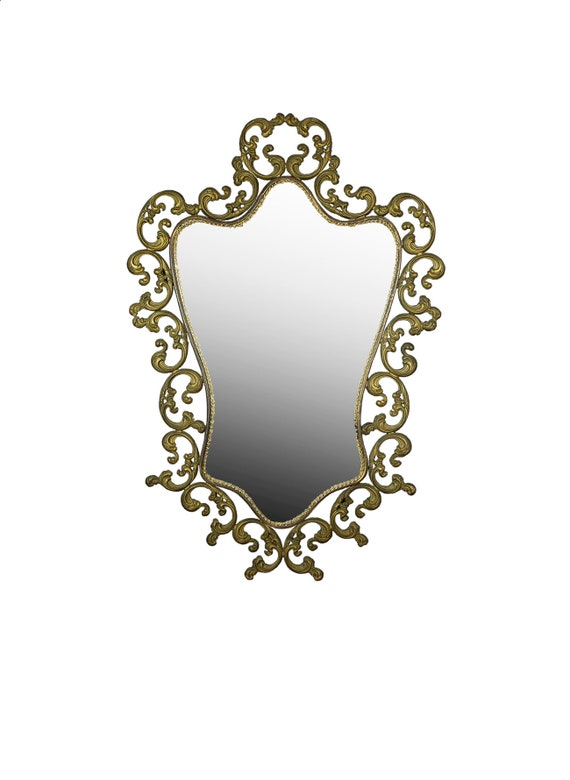 Metall Wand Spiegel Antik Spiegel Vintage Wand Spiegel Große Wand Spiegel  Dekorative Spiegel Bad Spiegel Verzierten Wand Spiegel Metall Rahmen