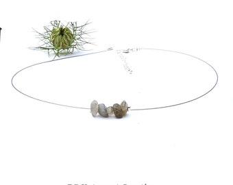 Contemporary modern jewelry, labradorite silver choker, modern contemporary necklace, labradorite gemstone jewelry, silver necklace shikky