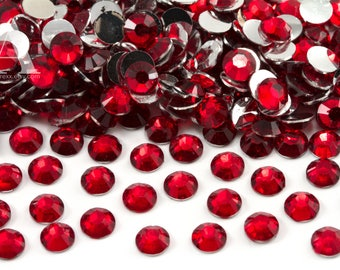 Ruby Red Resin Rhinestones for Embellishments and Nail Art 3-6mm