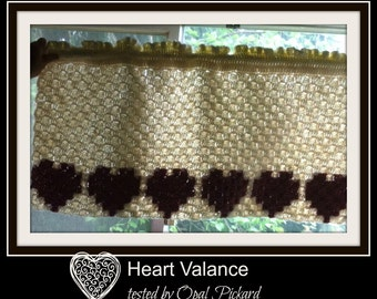 C2C Graph, Heart Valance, C2C Graph, Pattern and Written Word Chart