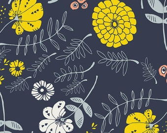 Meadow Vale - Dark - Tule - Leah Duncan - Art Gallery Fabric - 100% Quilters Cotton - Yards, Half Yards and Fat Quarters TL-40028