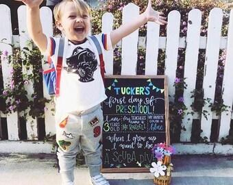 First Day of School Boards // back to school // custom chalkboards // kids