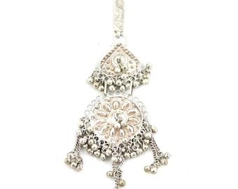 Vintage silver bedouin pendant from Yemen. Free shipping worldwide.