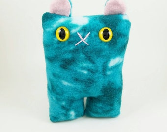 Turquoise Tie-Dye Cat Nubbin - Made To Order
