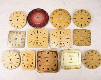 Vintage Watch Faces - set of 13 - c76