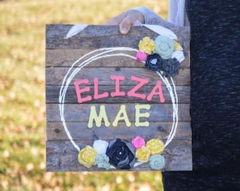 Personalized Name Sign for Nursery or Girl's Room